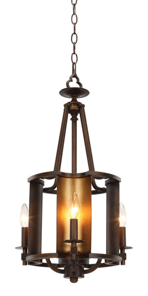 Maxim - 30294CHBGLD - Four Light Chandelier - Candella - Chestnut Bronze / Gold
