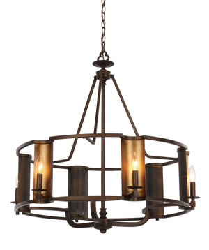 Maxim - 30295CHBGLD - Six Light Chandelier - Candella - Chestnut Bronze / Gold