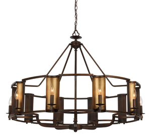 Maxim - 30297CHBGLD - Ten Light Chandelier - Candella - Chestnut Bronze / Gold