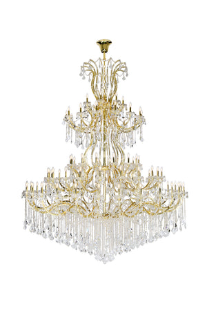 Elegant Lighting - 2800G120G/SA - 84 Light Chandelier - Maria Theresa - Gold
