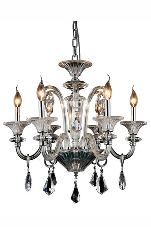 Elegant Lighting - 7871D24C/RC - Six Light Chandelier - Aurora - Silver Shade