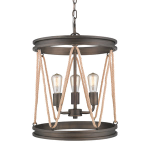 Golden - 1048-3P GMT - Three Light Pendant - Chatham - Gunmetal Bronze