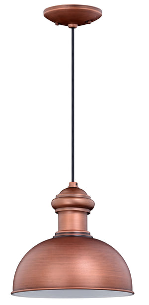 Vaxcel - T0408 - One Light Outdoor Pendant - Franklin - Brushed Copper