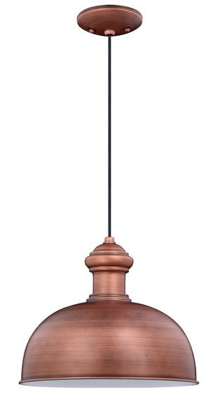 Vaxcel - T0410 - One Light Outdoor Pendant - Franklin - Brushed Copper