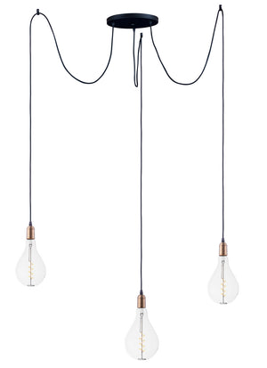 Maxim - 12123BKAB/BUL-A50 - LED Pendant - Early Electric - Black / Antique Brass