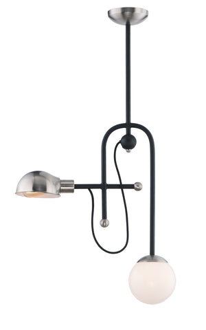 Maxim - 21664WTBKSN - LED Pendant - Mingle LED - Black / Satin Nickel