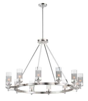 Maxim - 26329CLFTSN - 12 Light Chandelier - Crescendo - Satin Nickel