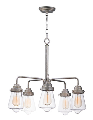 Maxim - 11335CLWZ - Five Light Chandelier - Cape Cod - Weathered Zinc