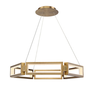 Modern Forms - PD-50835-AB - LED Chandelier - Mies - Aged Brass