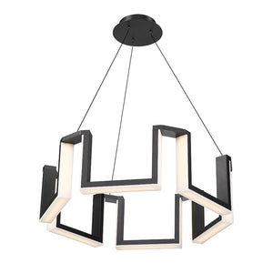Modern Forms - PD-60834-BK - LED Chandelier - Gotham - Black
