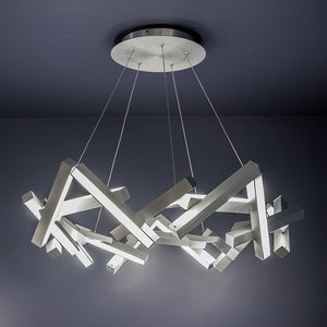 Modern Forms - PD-64834-AL - LED Chandelier - Chaos - Brushed Aluminum
