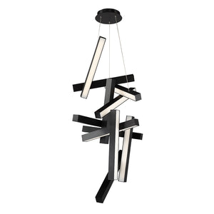 Modern Forms - PD-64849-BK - LED Chandelier - Chaos - Black