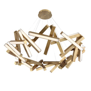 Modern Forms - PD-64861-AB - LED Chandelier - Chaos - Aged Brass