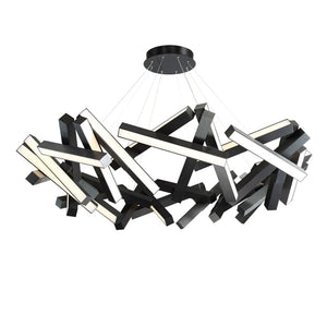 Modern Forms - PD-64861-BK - LED Chandelier - Chaos - Black