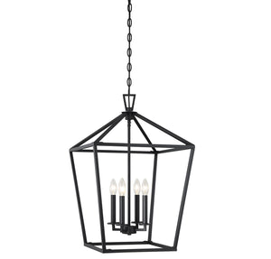 Savoy House - 3-321-4-89 - Four Light Foyer Pendant - Townsend - Matte Black