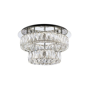 Kuzco Lighting - SF7830 (4000K) - LED Semi-Flush Mount - Chrome