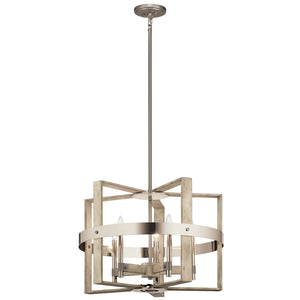 Kichler - 44290WWW - Five Light Chandelier - Peyton - White Washed Wood