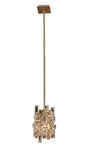 Allegri - 11195-038-FR001 - One Light Mini Pendant - Vermeer - Brushed Champagne Gold