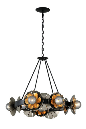 Corbett Lighting - 278-010 - Ten Light Chandelier - Magic Garden - Black Graphite Bronze Leaf