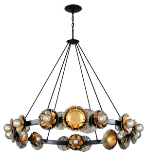 Corbett Lighting - 278-024 - 24 Light Chandelier - Magic Garden - Black Graphite Bronze Leaf
