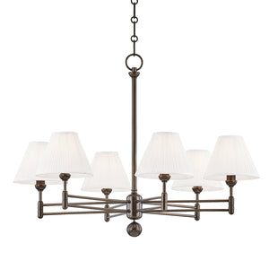 Hudson Valley - MDS105-DB - Six Light Chandelier - Classic No.1