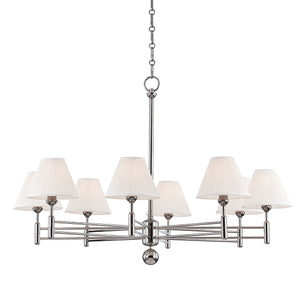 Hudson Valley - MDS106-PN - Eight Light Chandelier - Classic No.1
