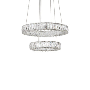 Kuzco Lighting - CH7824 (3000k) - LED Chandelier - Solaris - Chrome