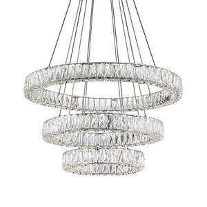 Kuzco Lighting - CH7874 (3000k) - LED Chandelier - Solaris - Chrome