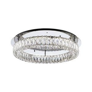Kuzco Lighting - SF7824 (3000k) - LED Semi-Flush Mount - Solaris - Chrome