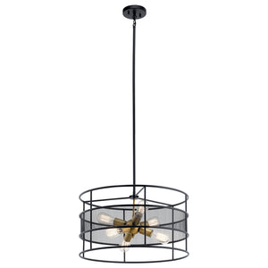 Kichler - 43594BK - Six Light Pendant - Piston - Black