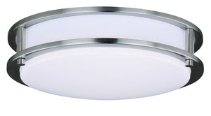 Vaxcel - C0200 - One Light Flush Mount - Horizon - Satin Nickel