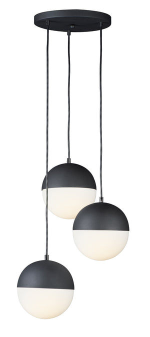 ET2 - E20364-92BK - LED Pendant - Half Moon - Black
