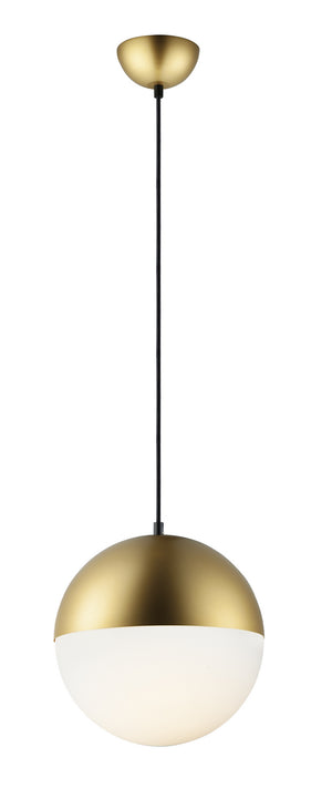 ET2 - E20366-92MG - LED Pendant - Half Moon - Metallic Gold