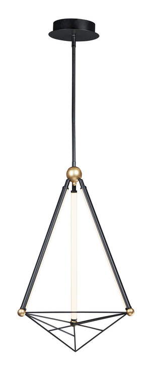 ET2 - E20592-BKGLD - LED Pendant - Spire - Black / Gold