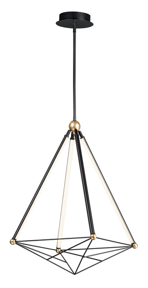 ET2 - E20594-BKGLD - LED Pendant - Spire - Black / Gold