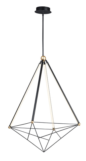 ET2 - E20596-BKGLD - LED Pendant - Spire - Black / Gold