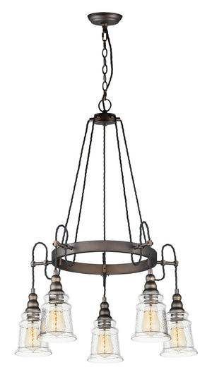 Maxim - 21575HMOI - Five Light Chandelier - Revival - Oil Rubbed Bronze