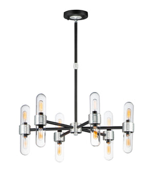 Maxim - 21706CLBKAL - 12 Light Chandelier - Dual - Black / Brushed Aluminum