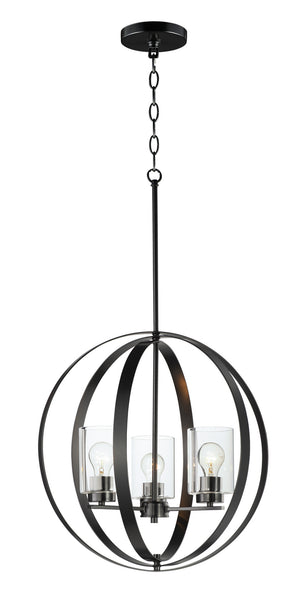 Maxim - 25254CLBK - Three Light Pendant - Sentinel - Black