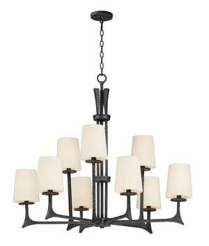 Maxim - 30306NI/SHD308CV - Nine Light Pendant - Anvil - Natural Iron