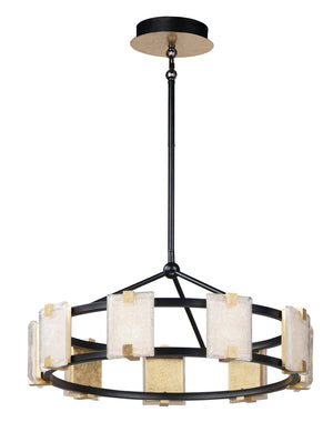 Maxim - 39535CYBKGL - LED Chandelier - Radiant - Black / Gold Leaf