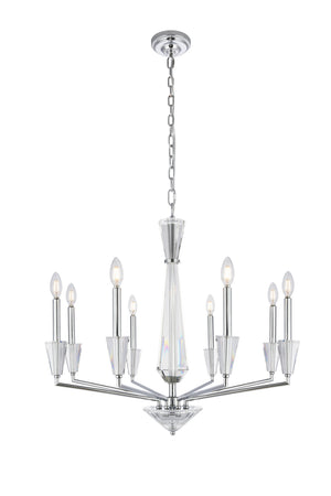Elegant Lighting - 2017D30C - Eight Light Pendant - Trident - Chrome