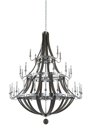 Kalco - 300486CH - 42 Light Chandelier - Sharlow - Chrome