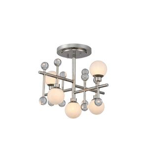 Kalco - 508640PN - LED Semi Flush Mount - Mercer - Polished Nickel