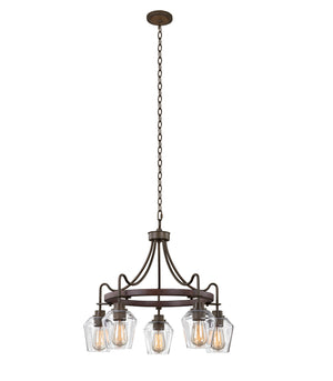 Kalco - 508770BS - Five Light Chandelier - Allegheny - Brownstone
