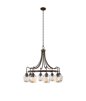 Kalco - 508771BS - Eight Light Chandelier - Allegheny - Brownstone