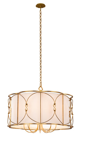 Kalco - 509052OL - Eight Light Pendant - Olivia - Oxidized Gold Leaf