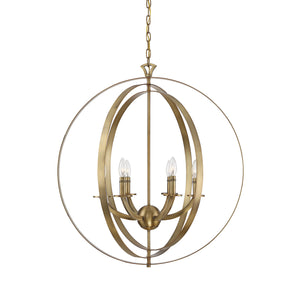 Savoy House - 7-204-6-322 - Six Light Pendant - Dumont - Warm Brass