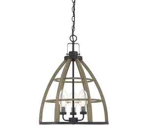 Savoy House - 7-2157-3-112 - Three Light Outdoor Pendant - Luisa - Weathered Birch