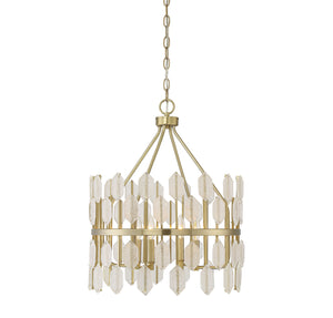 Savoy House - 7-2160-4-127 - Four Light Pendant - Royale - Noble Brass